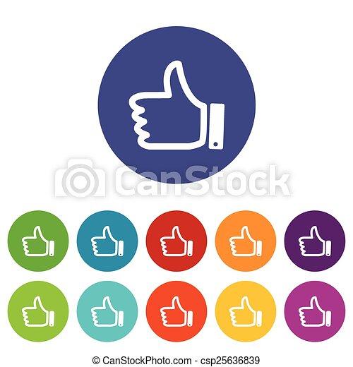 Like flat icon - csp25636839
