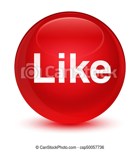 Like glassy red round button - csp50057736