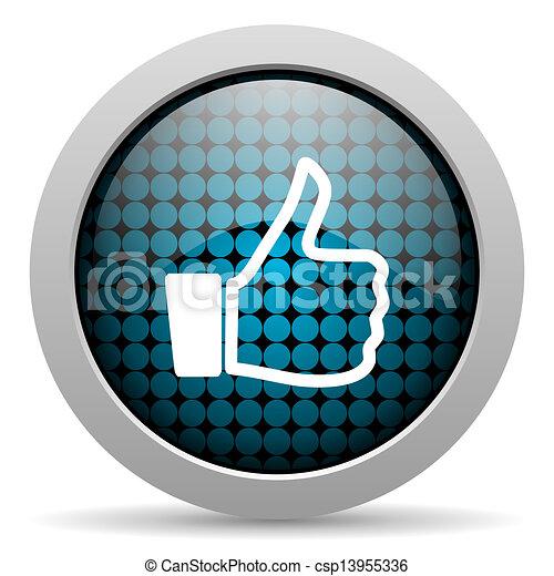like glossy icon - csp13955336