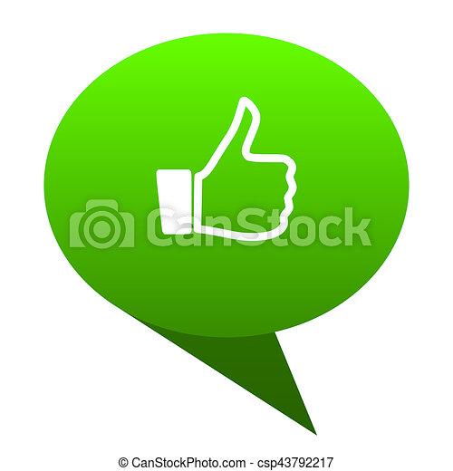 like green bubble icon - csp43792217