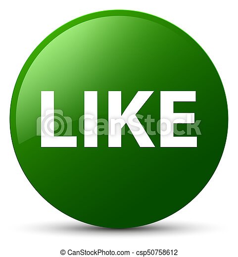 Like green round button - csp50758612