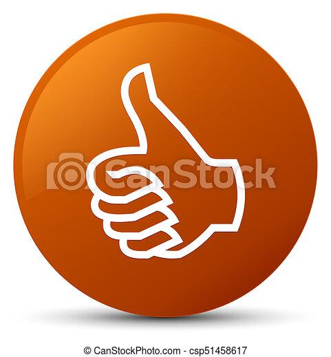 Like icon brown round button - csp51458617