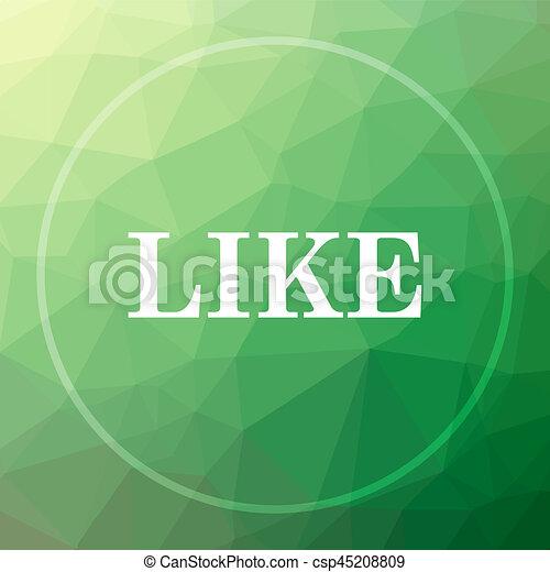 Like icon - csp45208809