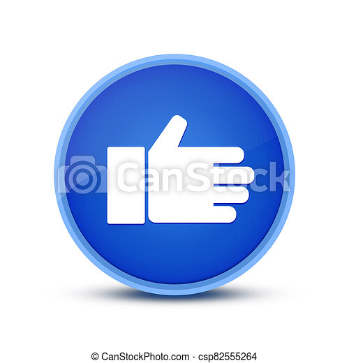 Like icon isolated on special blue round button abstract - csp82555264