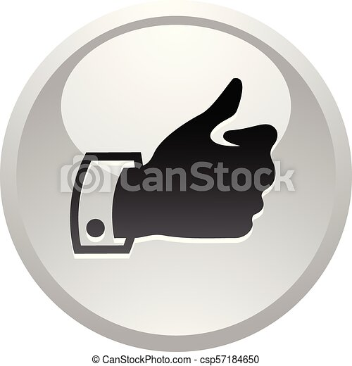 Like, icon on round gray button - csp57184650