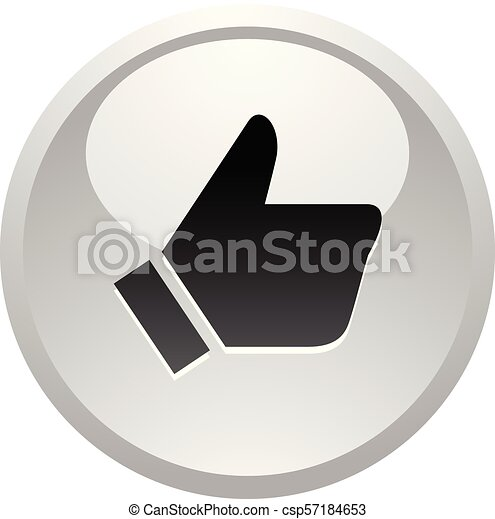 Like, icon on round gray button - csp57184653