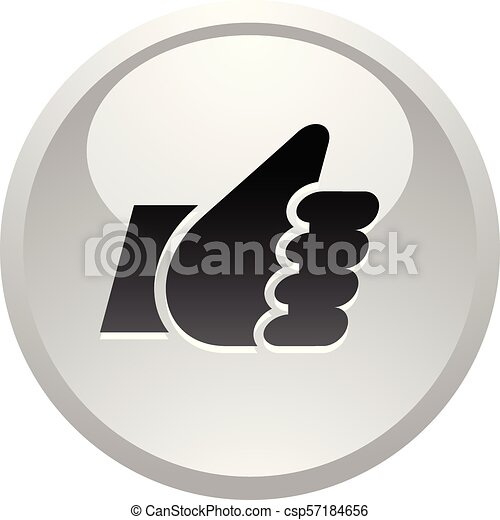 Like, icon on round gray button - csp57184656