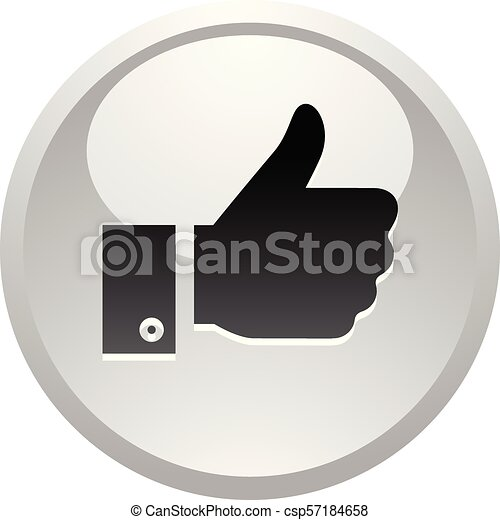 Like, icon on round gray button - csp57184658