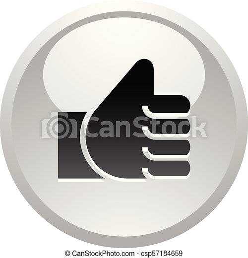 Like, icon on round gray button - csp57184659