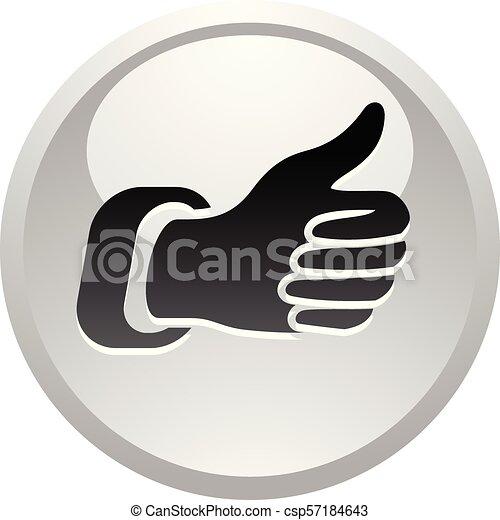 Like, icon on round gray button - csp57184643