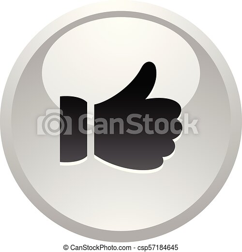 Like, icon on round gray button - csp57184645