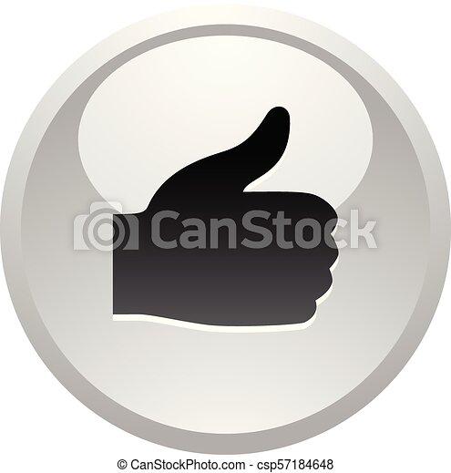 Like, icon on round gray button - csp57184648