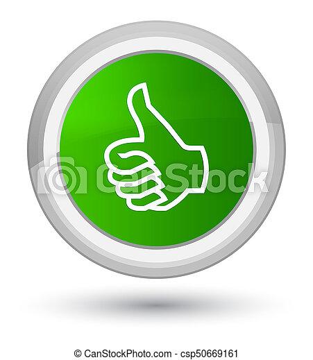 Like icon prime green round button - csp50669161