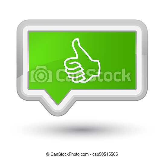 Like icon prime soft green banner button - csp50515565