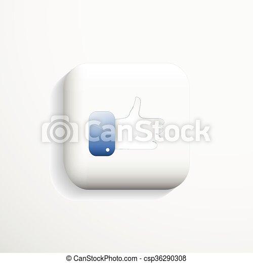 Like icon. - csp36290308