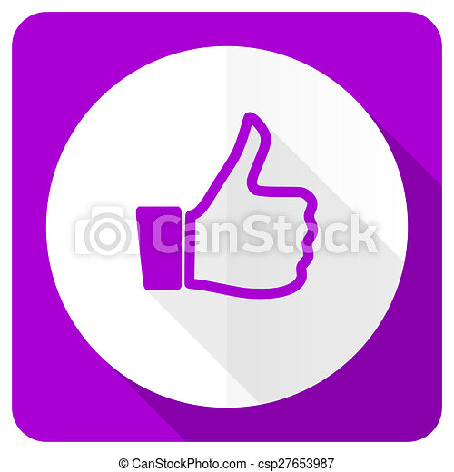 like pink flat icon thumb up sign - csp27653987