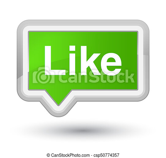 Like prime soft green banner button - csp50774357