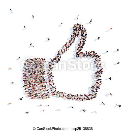 Gente en forma de armas que representan. - csp25138838