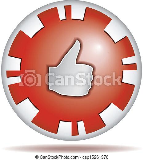 Like. Round button - csp15261376