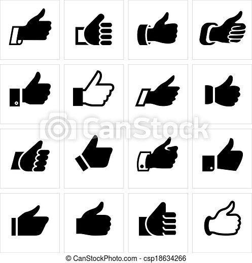 Like, set icons - csp18634266