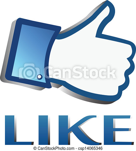 Like Symbol Or Thumb Up Button Facebook Like It Thumb Up Button