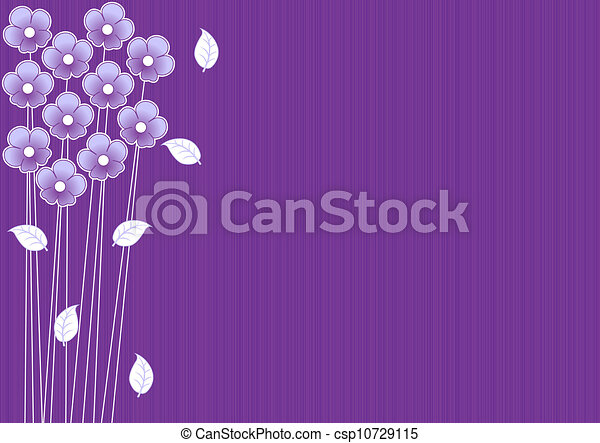 lila, abstrakt, blumen, hintergrund - csp10729115