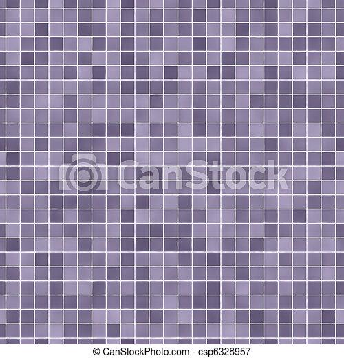 Lila, Fliesenmuster, (seamless), Mosaik   Csp6328957