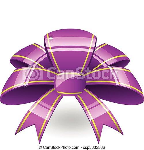 Purple-Band-Bogen - csp5832586
