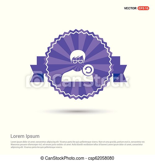 Laden sie benutzer-icon - lila band banner. | CanStock