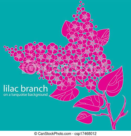 lilac branch  - csp17468012