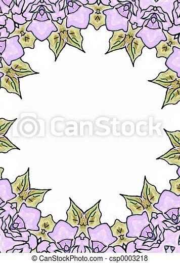 Lilac floral frame - csp0003218