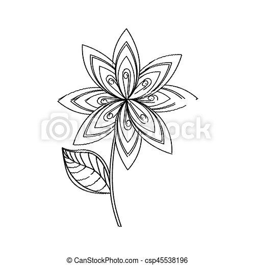 Lilac Flower Decoration Sketch