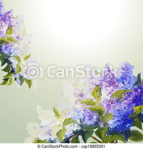 Lilac flowers background.  - csp18865091