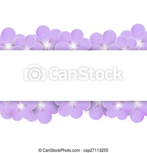 Lilac flowers border - csp27113255