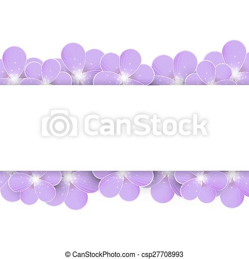 Lilac flowers border - csp27708993
