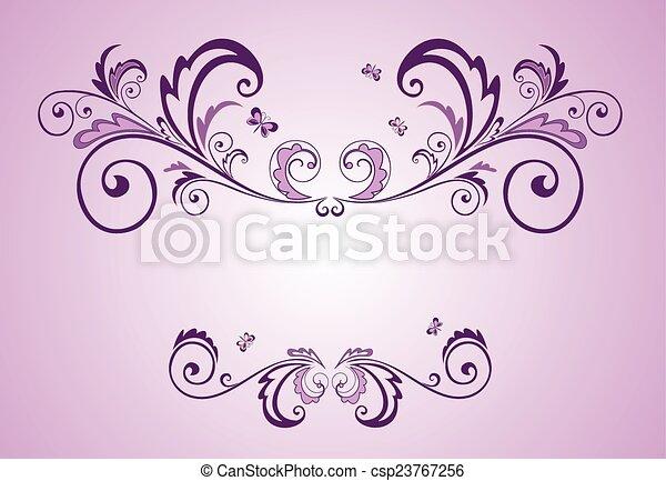 Lilac frame - csp23767256