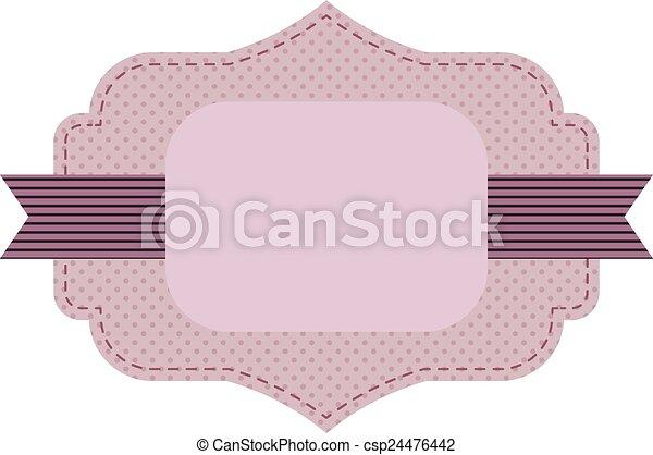 lilac frame - csp24476442