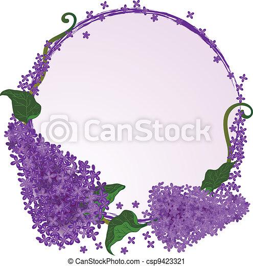 lilac frame - csp9423321