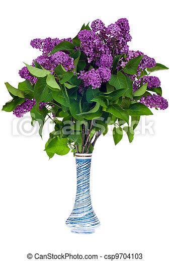 Lilac in a vase - csp9704103