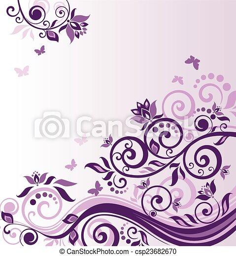 Lilac vintage frame - csp23682670
