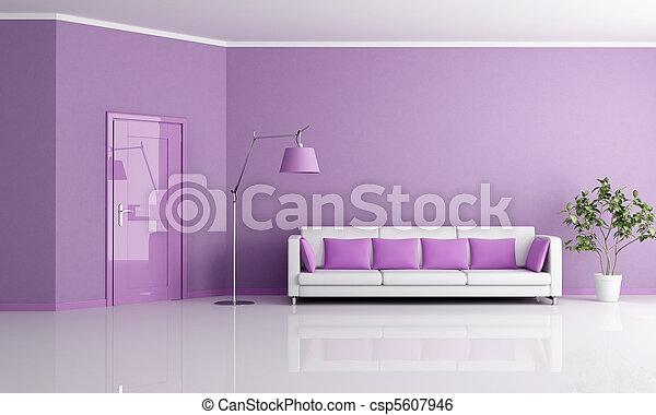 lilla living room - csp5607946