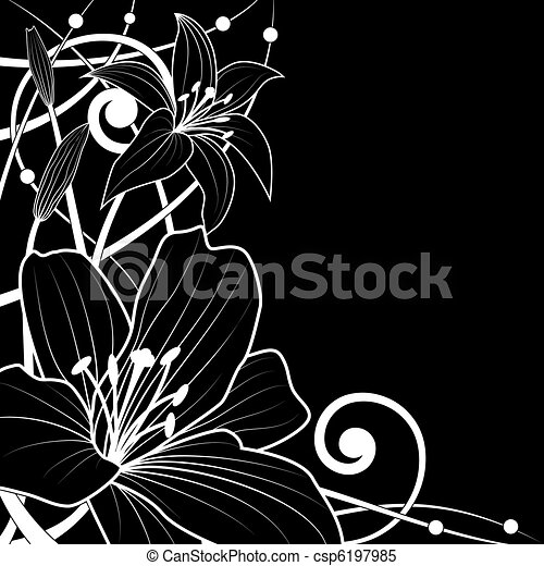 lily background - csp6197985