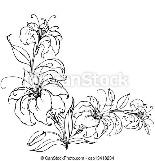 Lily flower - csp13418234