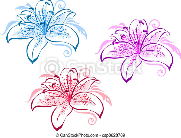 Lily flowers - csp8628789