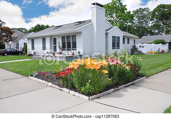 Lily Flowers Suburban Home - csp11287063