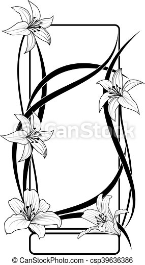 lily frame - csp39636386