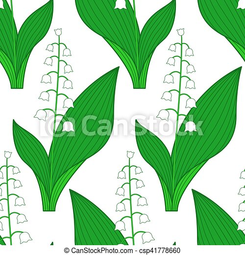 Lily of the valley pattern - csp41778660