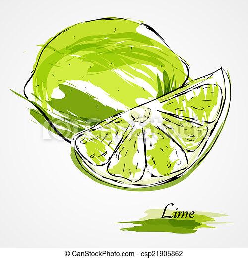 Lime fruit - csp21905862