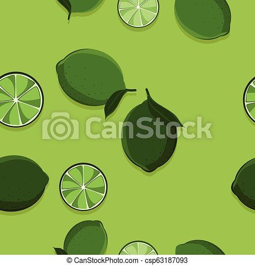Lime fruit illustration - csp63187093