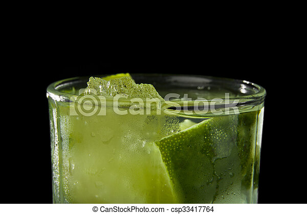 lime juice in a glass - csp33417764